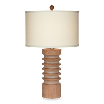 Pacific Coast® Lighting Tahiti 28-Inch Column Table Lamp with Natural Linen Shade