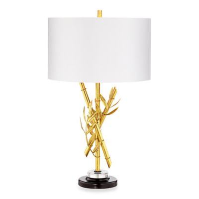 Gold with Linen Shade Home Decor