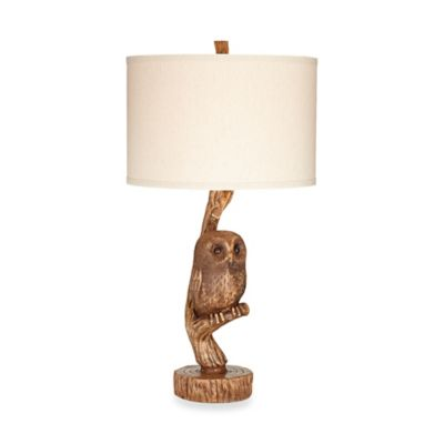 Owl Themed Lamp With Shade