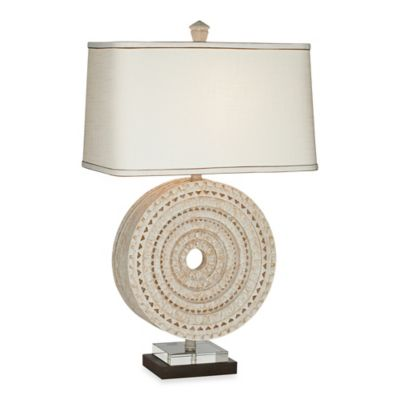 Pacific Coast® Lighting Aztec Table Lamp with Linen Rectangular Shade