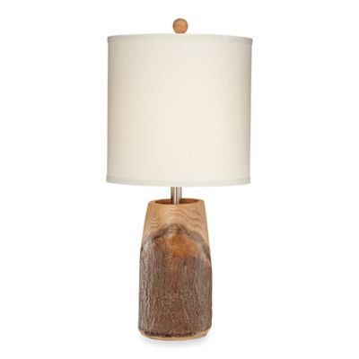Pacific Coast® Lighting Scarlet Oak 28-Inch Table Lamp with Natural Linen Shade