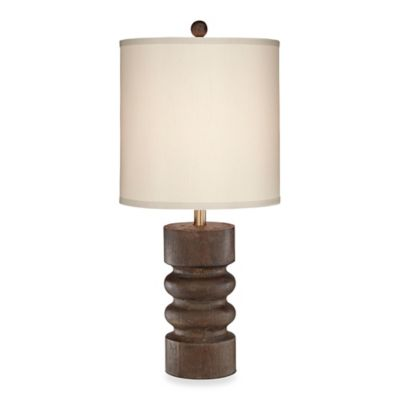 Pacific Coast® Lighting Tonga 28-Inch Table Lamp in Brown Wood Tone Finish