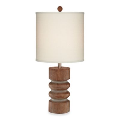 Pacific Coast® Lighting Tonga 28-Inch Table Lamp in Natural Wood Tone Finish