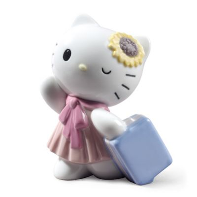 Nao® Traveling with Hello Kitty Porcelain Figurine