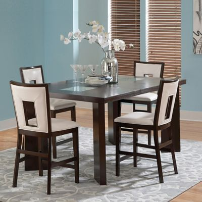 Steve Silver Co. Delano 5-Piece Counter Height Dining Set in Espresso Cherry