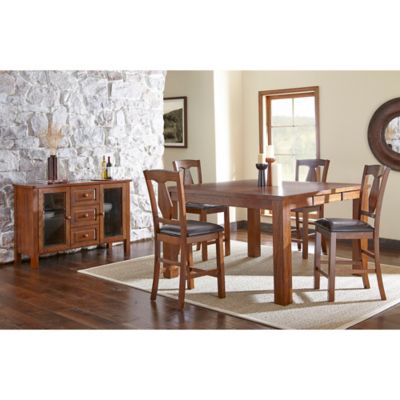 Steve Silver Co. Lakewood 6-Piece Counter Height Dining Set in Oak