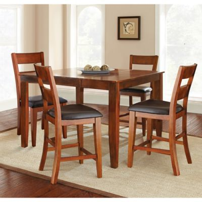 Steve Silver Co. Mango Counter Height 5-Piece Dining Set in Cherry