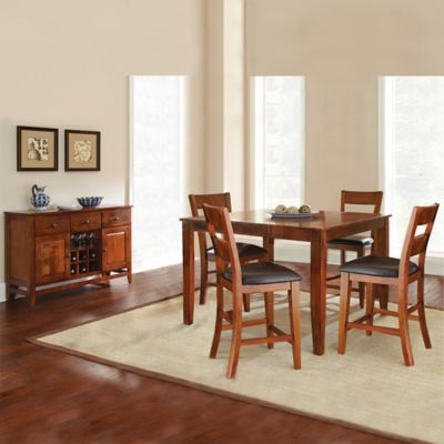 Steve Silver Co. Mango Counter Height 6-Piece Dining Set in Cherry