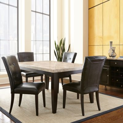 Steve Silver Co. Monarch 6-Piece Dining Set in Dark Cherry