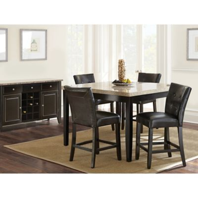 Steve Silver Co. Monarch 3-Piece Counter Height Dining Set in Dark Cherry