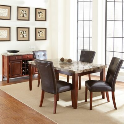 Steve Silver Co. Montibello Standard Height 5-Piece Dining Set in Cherry