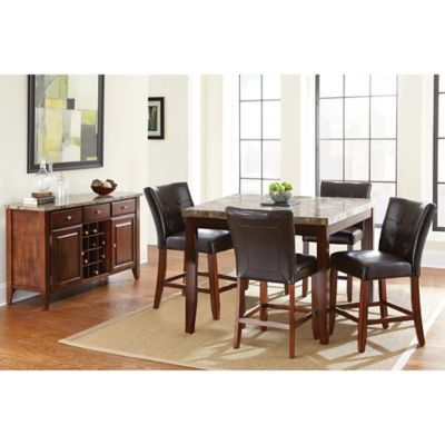 Steve Silver Co. Montibello Counter Height 3-Piece Dining Set in Cherry