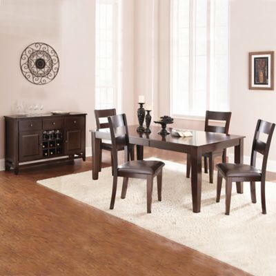 Steve Silver Victoria 5-Piece Standard Height Dining Set in Dark Espresso