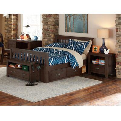 NE Kids Highlands Harper Full Bed with Trundle in Espresso