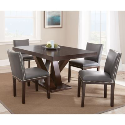 Steve Silver Co. Tiffany 5-Piece Dining Set with Brown Chairs