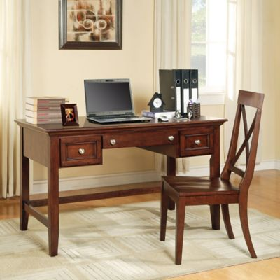 Buy Home Styles Naples Pedestal Desk In White Finish From