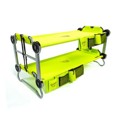 KID-O-BUNK by Disc-O-Bed with Organizers in Lime Green