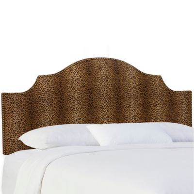 Skyline Furniture Sheffield Queen Headboard in Cheetah Earth