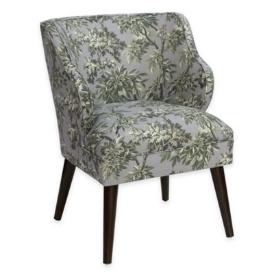 Skyline Furniture Wesley Chair in Sylvan Toile Greystone