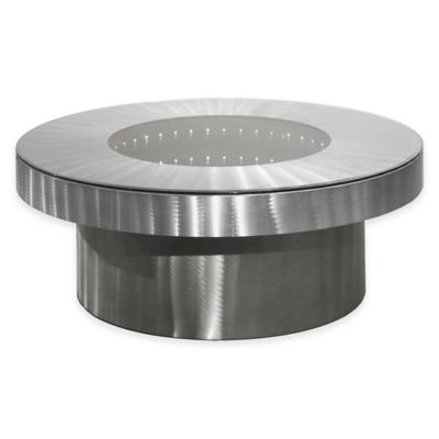 Brushed Aluminum Cocktail Table