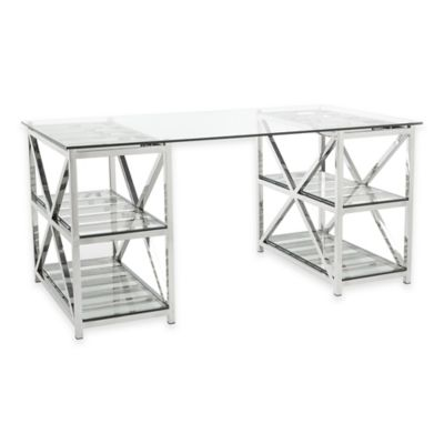 Safavieh Nelson Desk in Stainless Steel