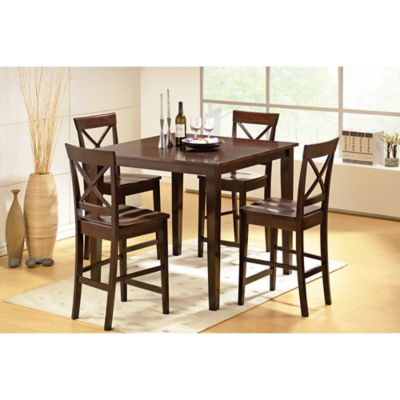 Steve Silver Co. Cobalt 5-Piece Counter Height Dining Set in Espresso