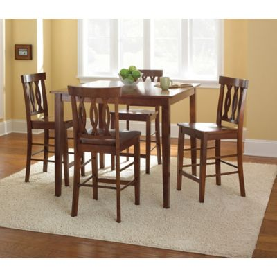 Steve Silver Co. Richmond 5-Piece Counter Height Dining Set in Cherry