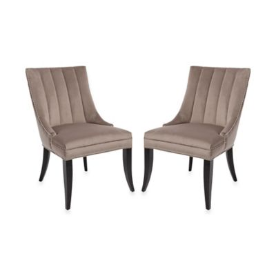 Claude Side Chairs in Burnt Grey (Set of 2)