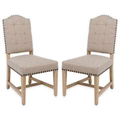 Safavieh Penny Side Chair in Beige (Set of 2)