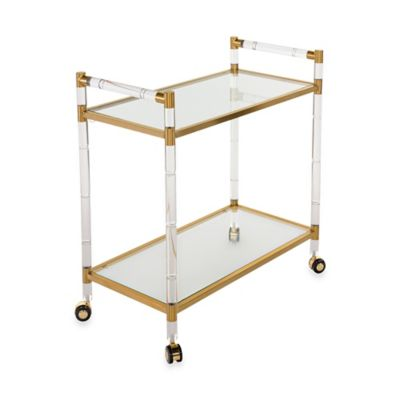 Safavieh Duval Bar Trolley in Bronze