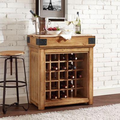 Crosley Bistro 25-Bottle Wine Island in Natural