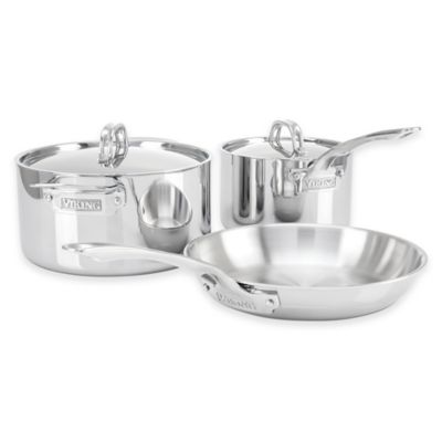 Viking® 3-Ply Stainless Steel 5-Piece Cookware Set