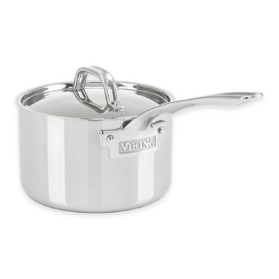 3-Ply Stainless Steel 3 Qt. Covered Saucepan