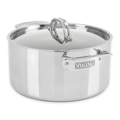 Viking® 3-Ply Stainless Steel 6 qt. Covered Stock Pot