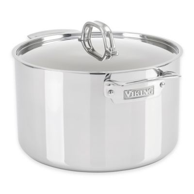 Viking® 3-Ply Stainless Steel 8 qt. Covered Stock Pot