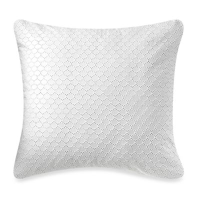 Barbara Barry® Lace Crystal European Pillow Sham in Glacier