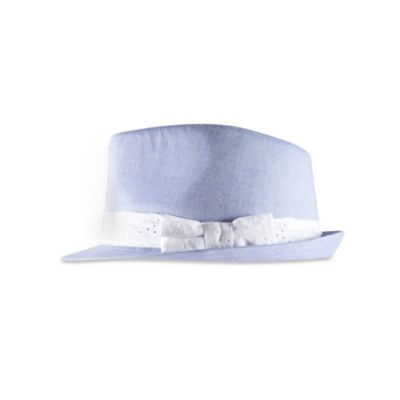 Aquarius Limited Infant Girl's Chambray Fedora in Light Blue