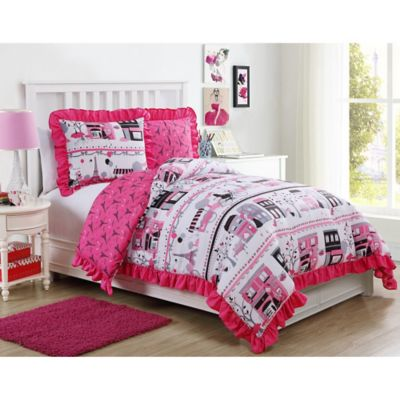 VCNY Elisa 2-Piece Reversible Twin Comforter Set in Pink