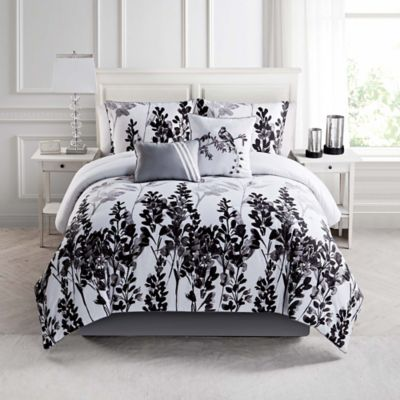 Mirage 5-Piece Comforter Set in Black/White