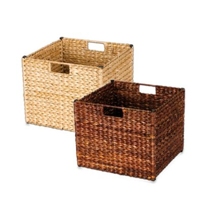 Household Essentials® Banana Leaf Wicker Collapsible Storage Bin in Natural