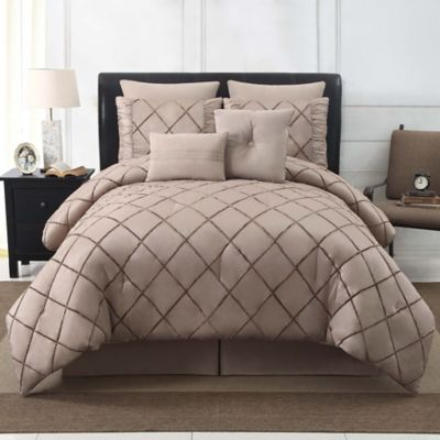 VCNY Bella 8-Piece King Comforter Set in Platinum
