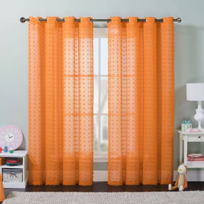 Orange Decorating Window Treatment