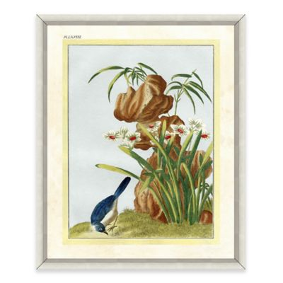 Flowers and Bird Framed Giclée Print Wall Art III