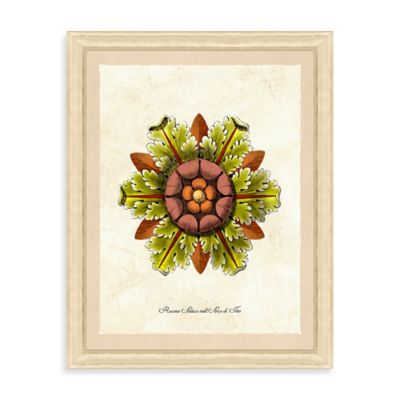 Yellow Rosettes Framed Giclée Print Wall Art I