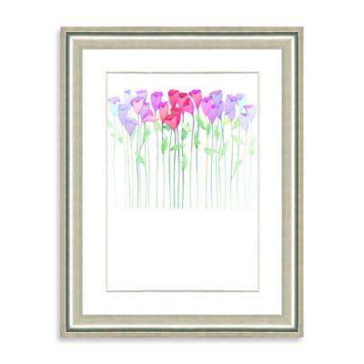 Watercolor Bouquet Framed Giclée Print Wall Art I