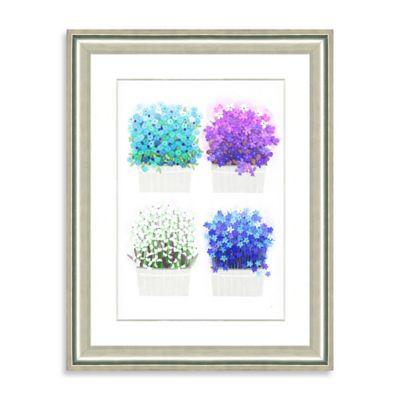 Watercolor Bouquet Framed Giclée Print Wall Art IX