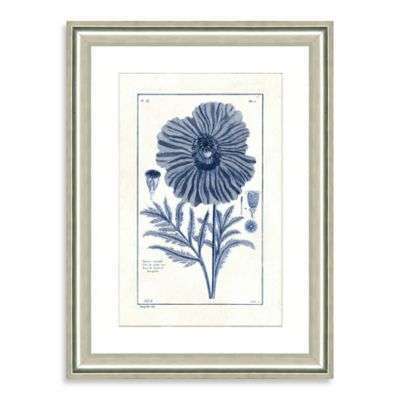 Blue Botanicals II Framed Wall Art