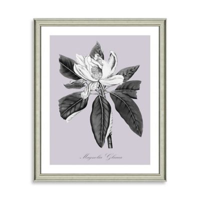Purple and White Botanical II Framed Wall Art