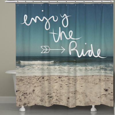 "Laural Home® ""Enjoy the Ride"" Shower Curtain"