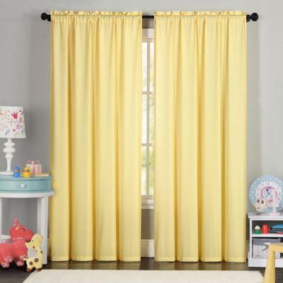 VCNY Eva 84-Inch Window Curtain Panel in Yellow